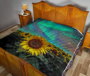 Sunflower Artwork Quilt Blanket - 5 - Wonder Hippie Official