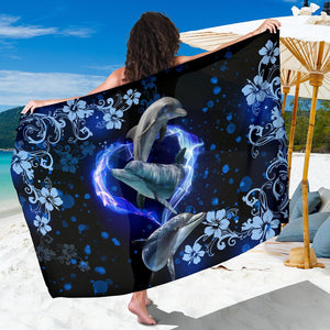 Amazing Dolphin Flower Sarong - Wonder Hippie Official