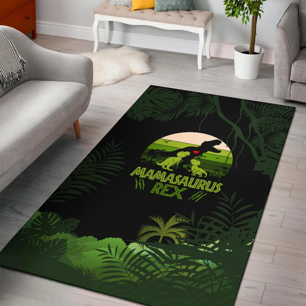 Mama Saurus Mother's Day Dinosaur Area Rug - Wonder Hippie Official
