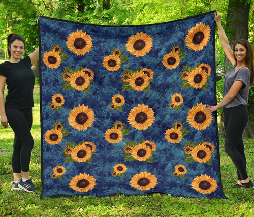 Vintage Sunflower Premium Quilt For Hippie Boho - Wonder Hippie Official