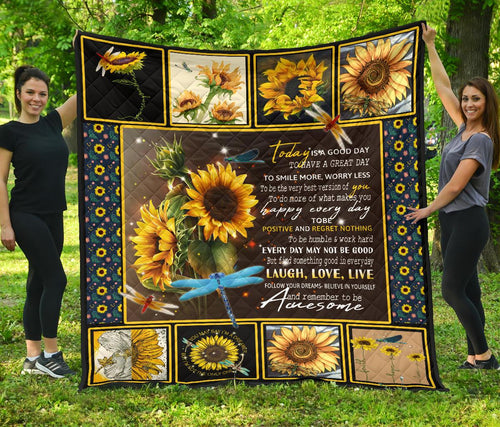 You are my sunshine sunflower quotes quilt for bedding family - Wonder Hippie Official
