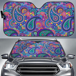Floral Hippie Pattern Car Auto Sun Shades - Wonder Hippie Official