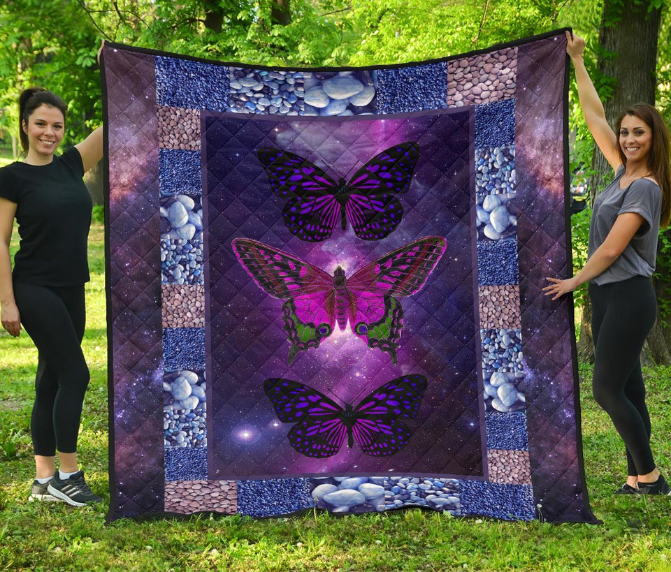 Cute Butterfly Premium Quilt - Wonder Hippie Official