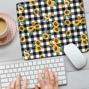 Sunflower Gray Caro Mouse Pad