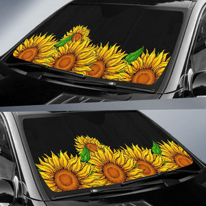 Sunflower Car Auto Sun Shades - Wonder Hippie Official