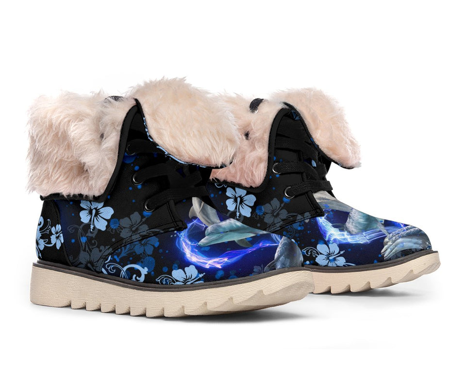 Amazing Dolphin Flower Polar Boot - Wonder Hippie Official
