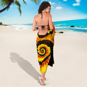 Twisted Tornado Sunflower Bikini Cover Travel Swim Sarong for women - Wonder Hippie Official