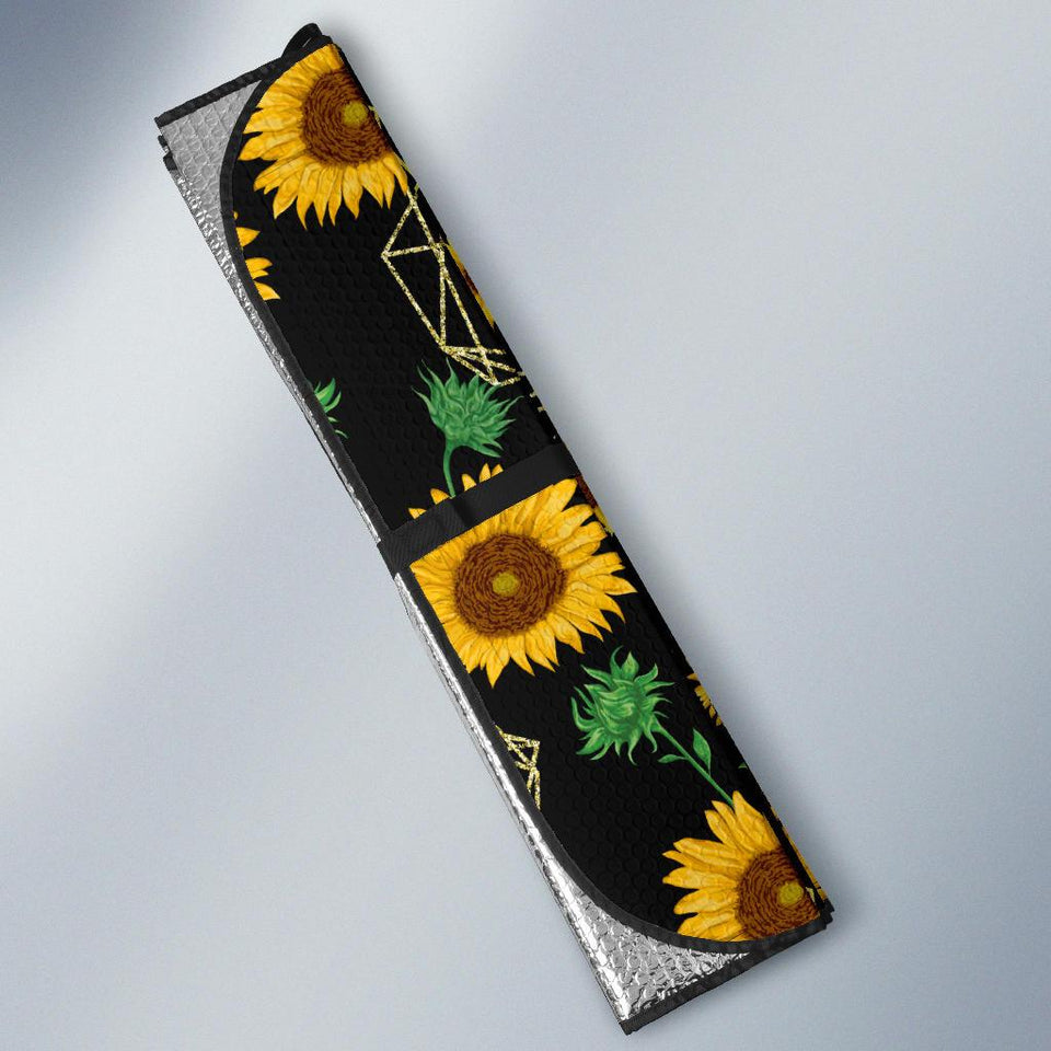 Sunflowers Pattern Car Auto Sun Shades - Wonder Hippie Official