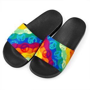 Peace Sign Tie Dye Slide Sandals - Wonder Hippie Official