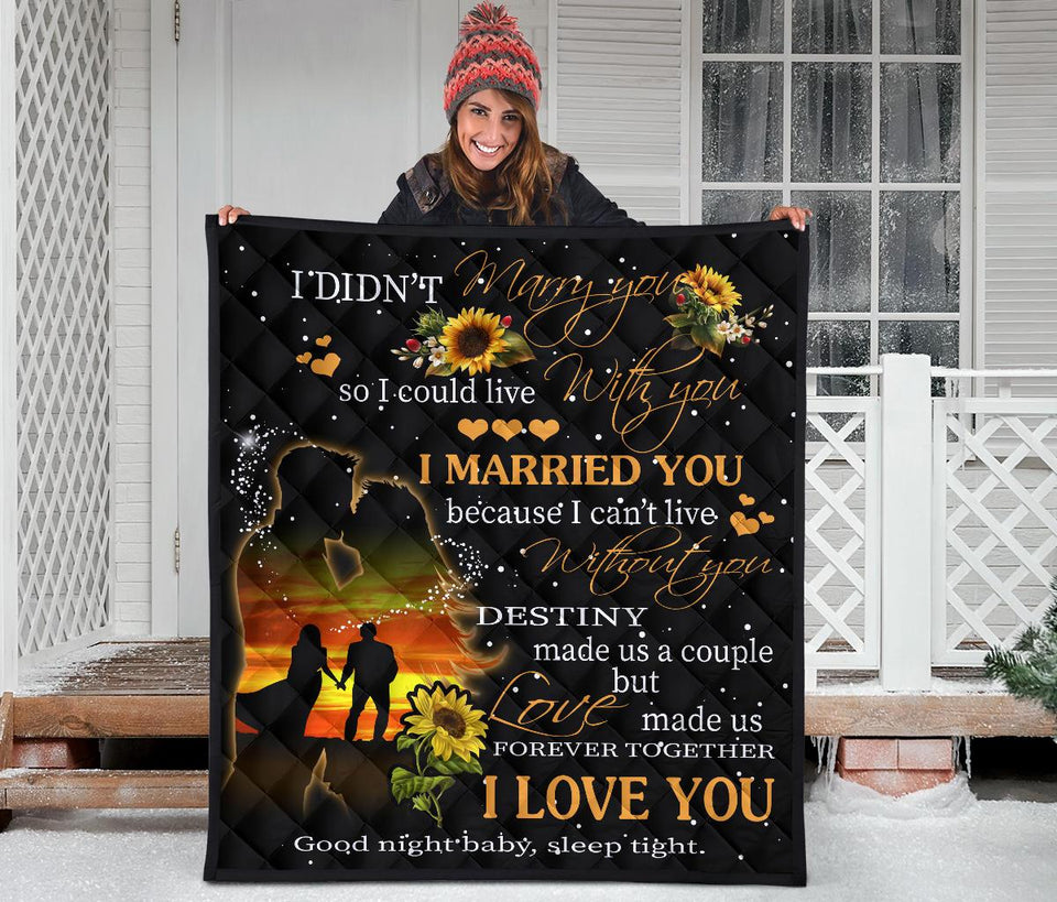 Marry you couple love quilt for husband wife family - Wonder Hippie Official