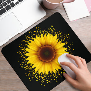 Sunflower Pixel Mouse Pad