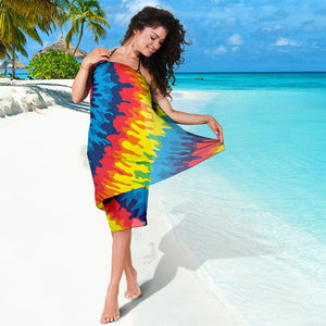 Heart Tie Dye Bikini Cover Travel Swim Sarong for women