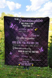 To My Granddaughter Premium Quilt - Wonder Hippie Official