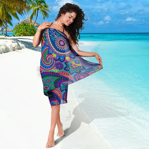 Floral Hippie Pattern Bikini Cover Travel Swim Sarong for women