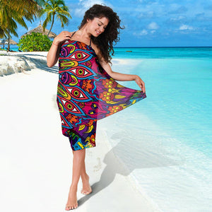 Mandala Art Bikini Cover Travel Swim Sarong for women
