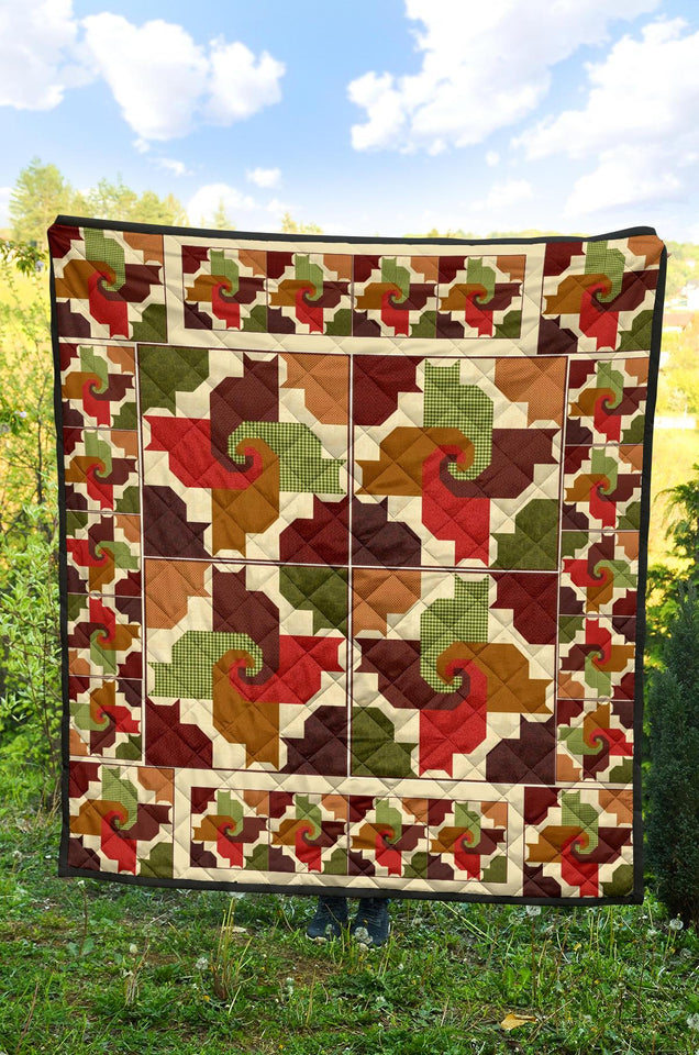 Cats And Friends Pattern Premium Quilt 2 - Wonder Hippie Official