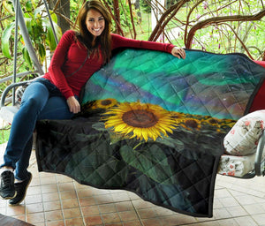 Sunflower Field 5 Premium Quilt - Wonder Hippie Official
