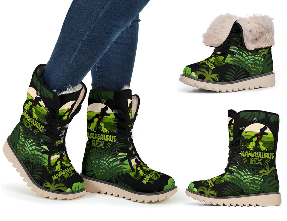 Mama Saurus Mother's Day Dinosaur Polar Boot - Wonder Hippie Official