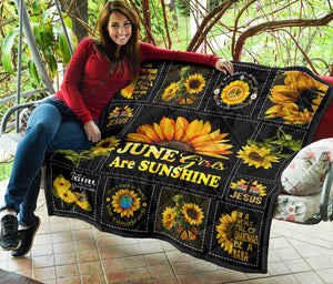 Amazing Sunshine Sunflower June Girl Quilt for bedding - Wonder Hippie Official