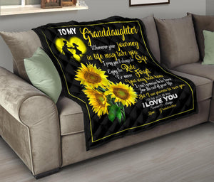 Sunflower premium quilt for granddaughter - Wonder Hippie Official