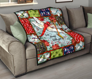 Always with you cute dragonfly premium quilt - Wonder Hippie Official