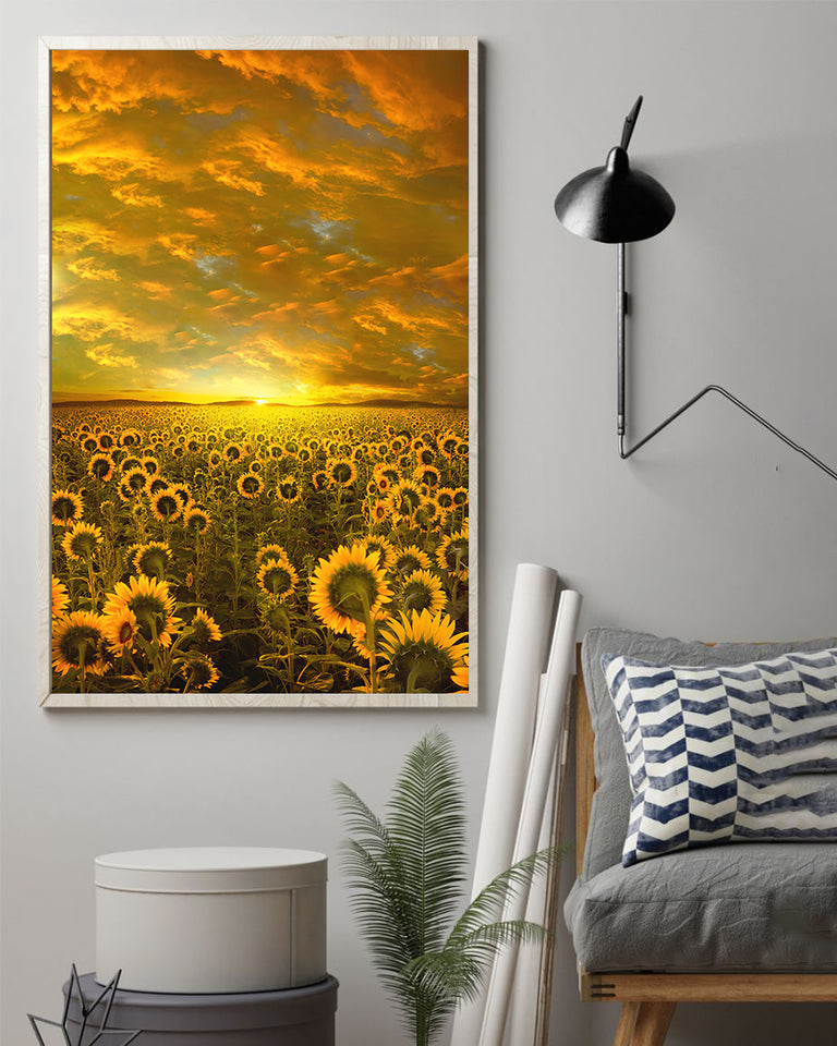 Sunflower Sunset Artwork Poster 16x24""