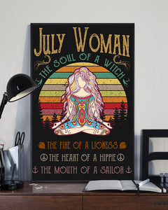 July Woman The Soul Of A Witch Hippie Poster 16x24""