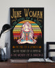 June Woman The Soul Of A Witch Hippie Poster 16x24""
