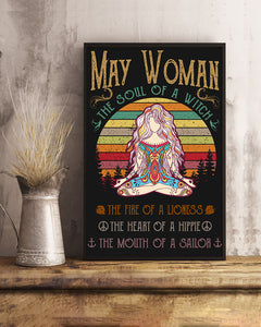 May Woman The Soul Of A Witch Hippie Poster 16x24""
