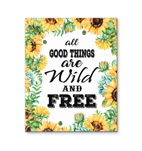 All Good Things Are Wild And Free Canvas With Frames 2