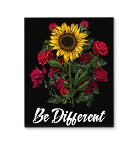Sunflower Be Different Wrapped Canvas