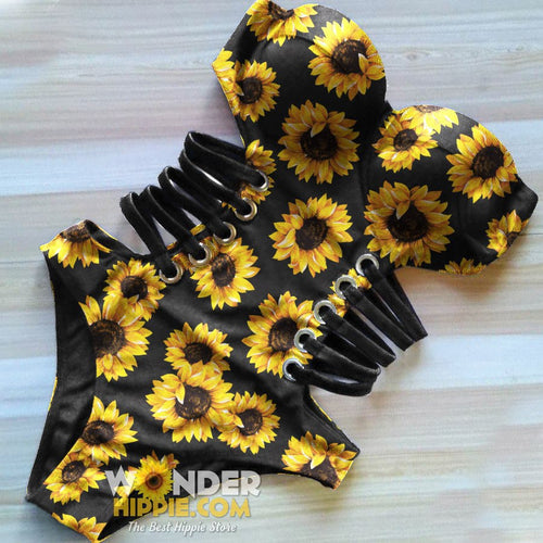 Sunflower One Piece Swimsuit