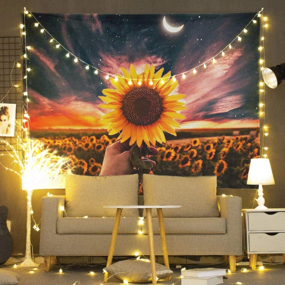 Sunflowers Wall Tapestry Boho Room Decor
