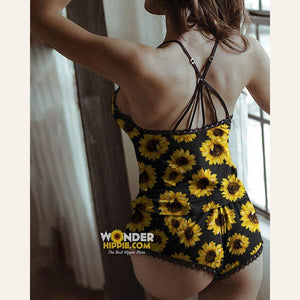 Sunflower Homewear Strap Top & Shorts Set