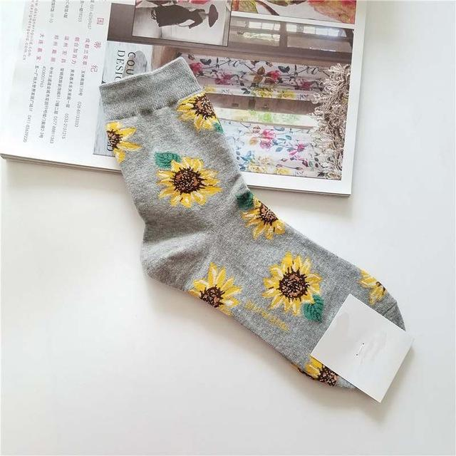 Sunflower Socks Spring Fall Winter Casual Colorful Cotton - Wonder Hippie Official