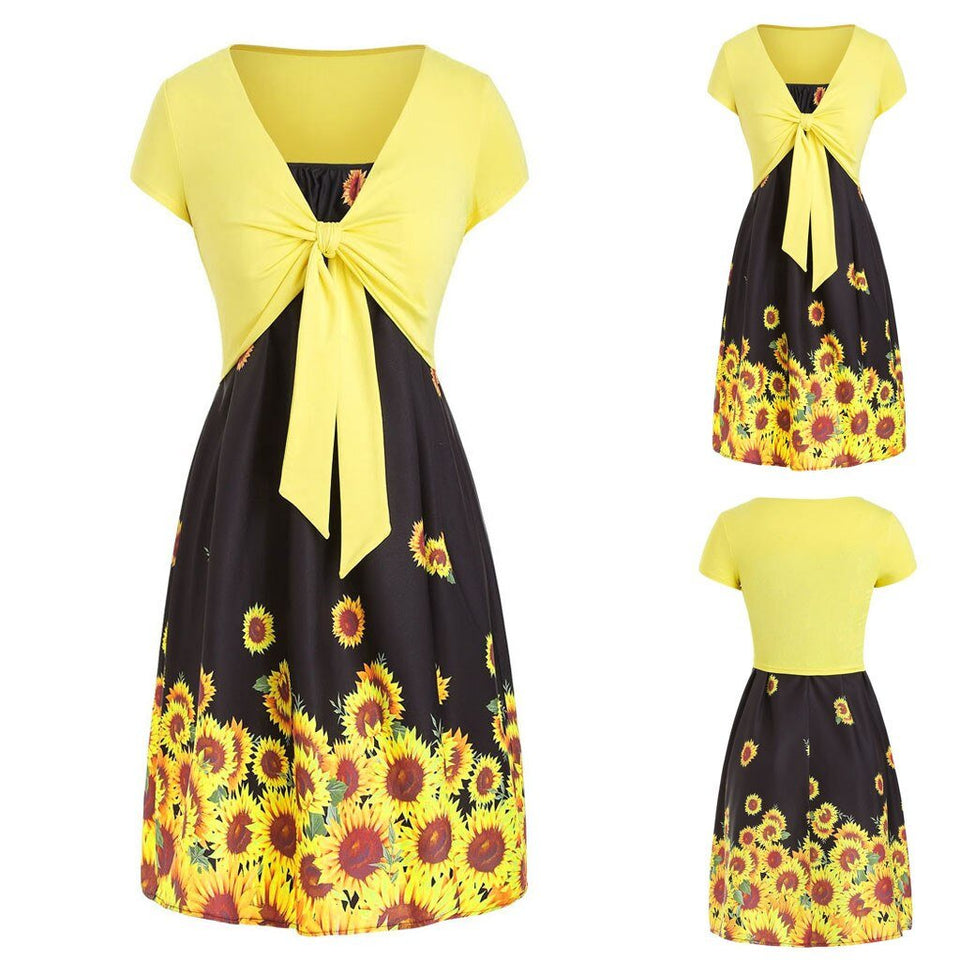 Combo Dress Suit Womens Casual Top Sunflower - Wonder Hippie Official