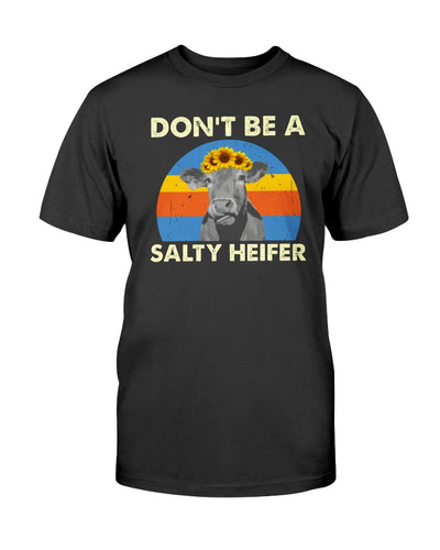 Dont Be Salty Heifer Funny Cow Sunflower T-shirt & Hoodie