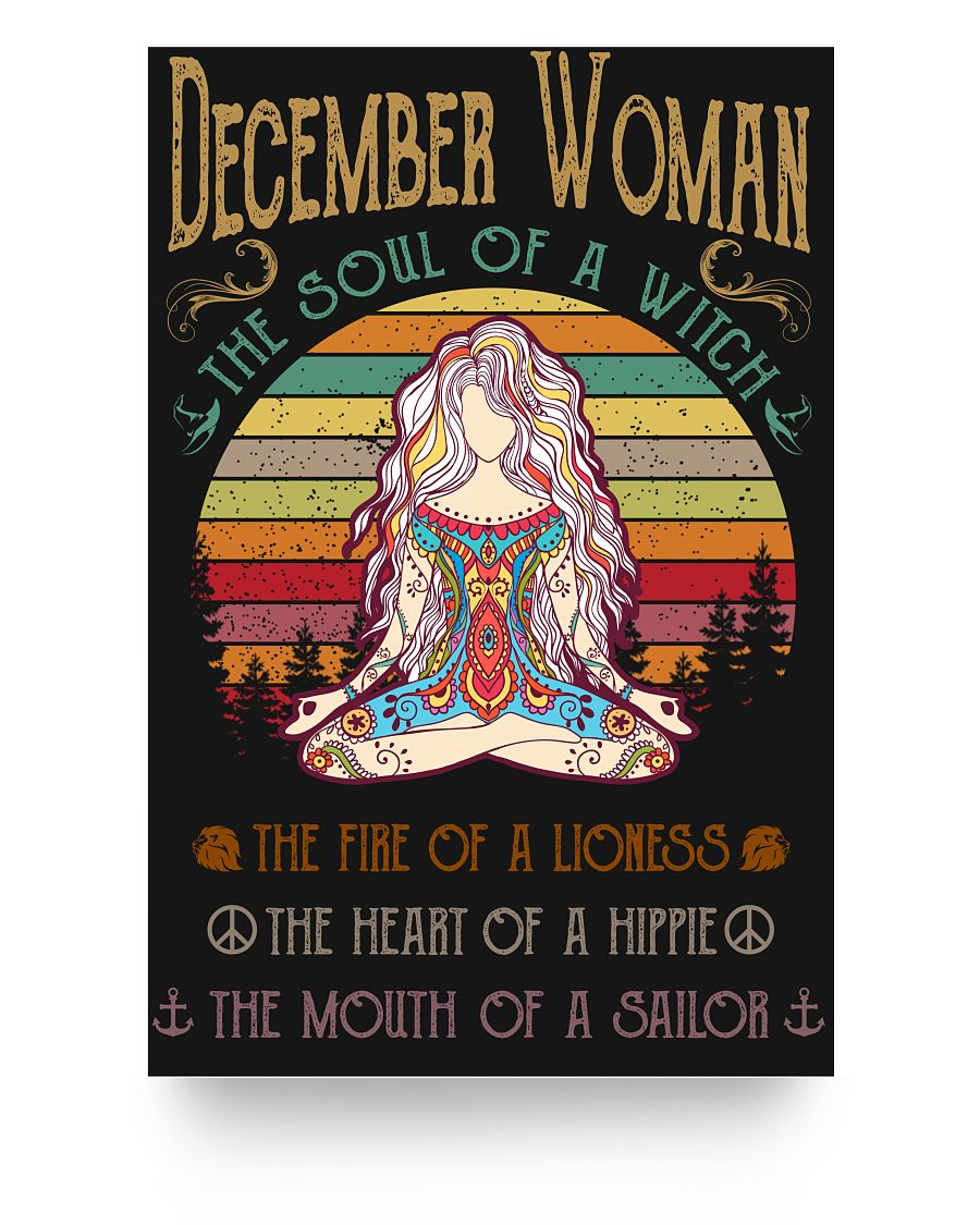 December Woman The Soul Of A Witch Hippie Poster 16x24