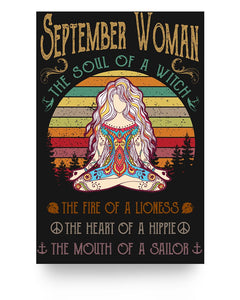 September Woman The Soul Of A Witch Hippie Poster 16x24""