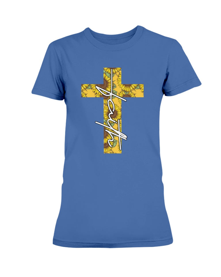 Sunflower  Cross Jesus Blessed Faith T-shirt & Hoodie