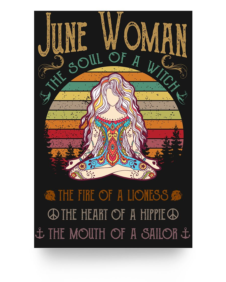 June Woman The Soul Of A Witch Hippie Poster 16x24