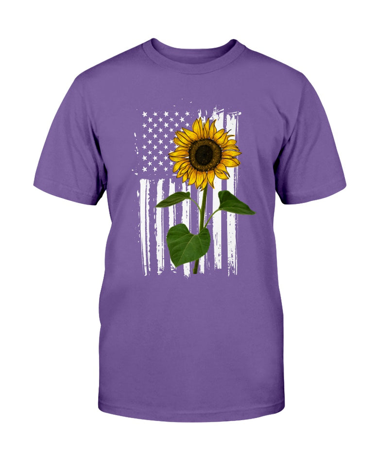 Sunflower Us Flag T-shirt & Hoodie