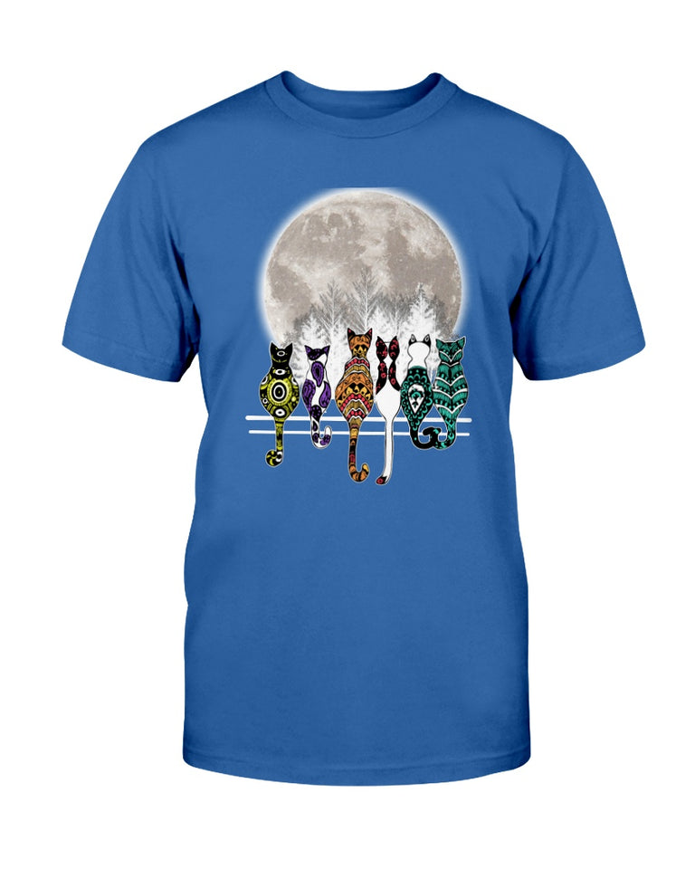 Hippie Cat and The Moon T-shirt & Hoodie