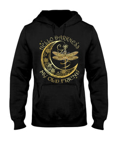 Hello Darkness my old friend Dragonfly Moon Boho Hippie  T-shirt & Hoodie