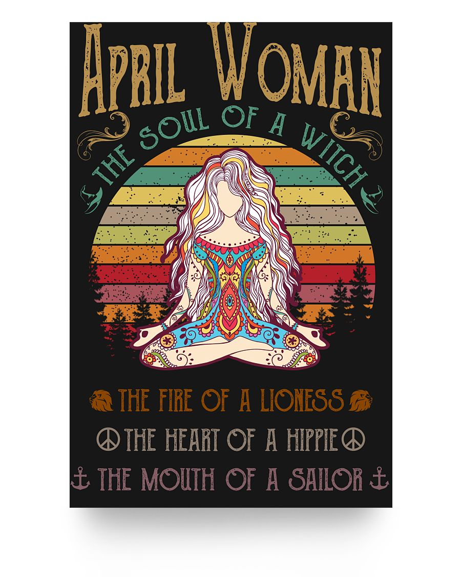 April Woman The Soul Of A Witch Hippie Poster 16x24