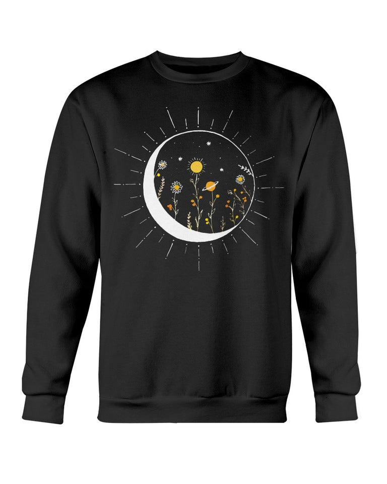 Galaxy Flower Moon T-shirt & Hoodie