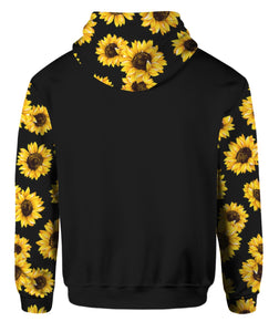 God Rolled Me Sunflower Hoodie Full Printed