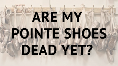 When is it time for new pointe shoes?