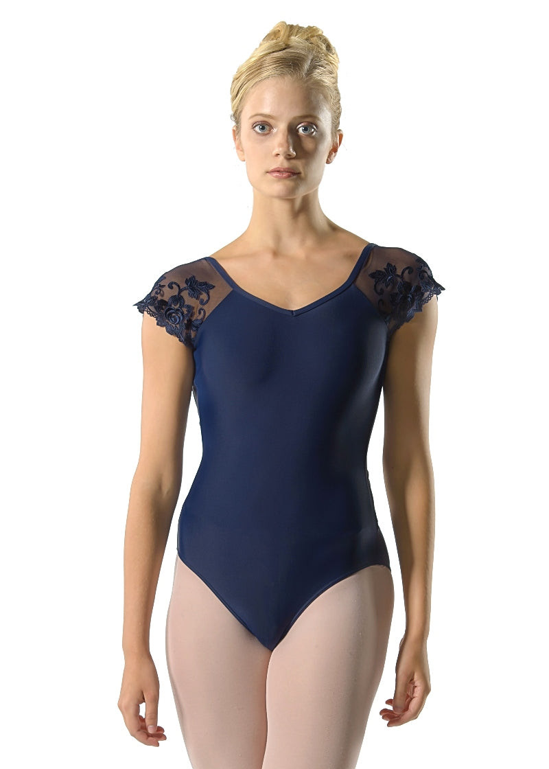Lycra ruched front short sleeve leotard various sizes and colours Jeanette