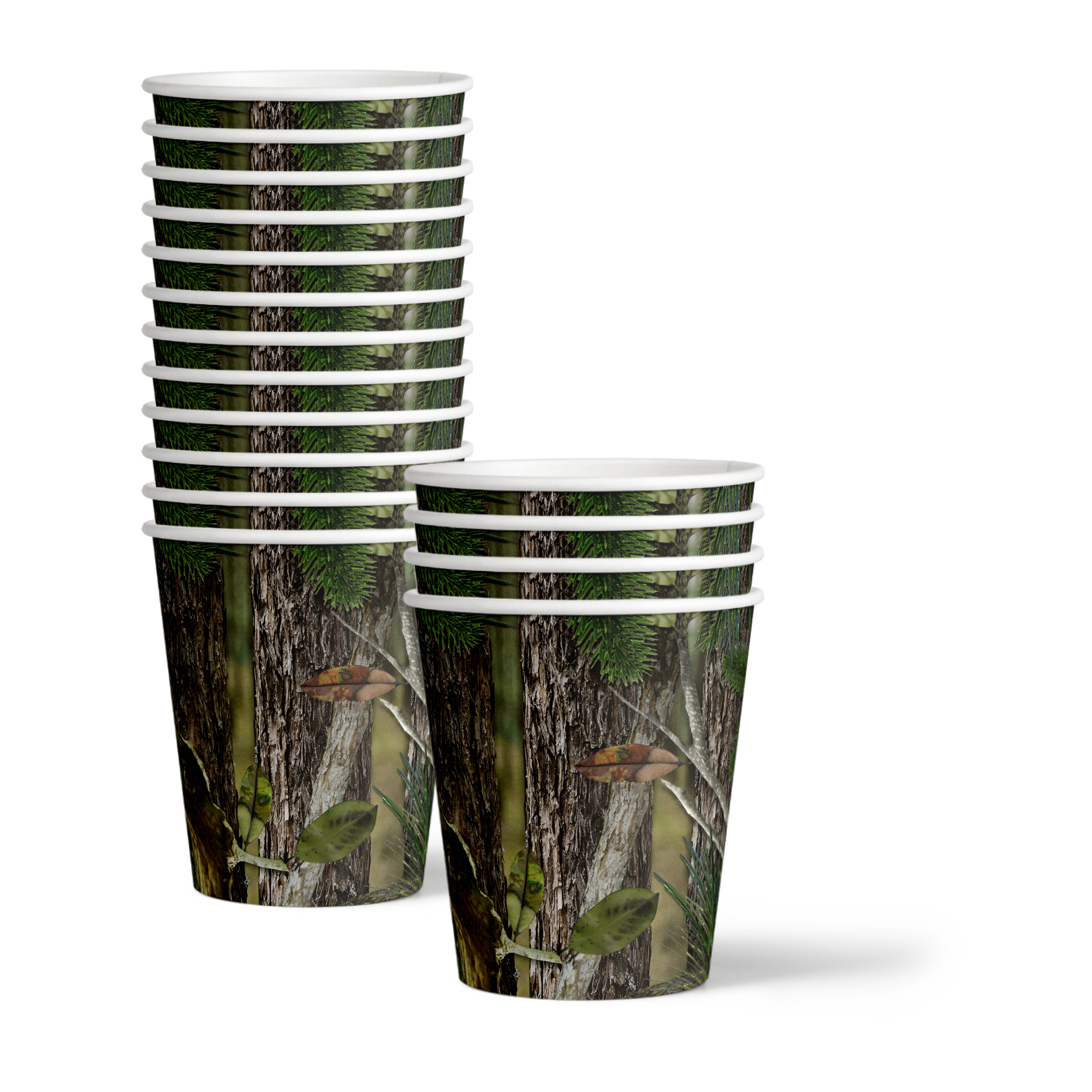 Hunter Camo Birthday Party Tableware Kit For 16 Guests - BirthdayGalore.com